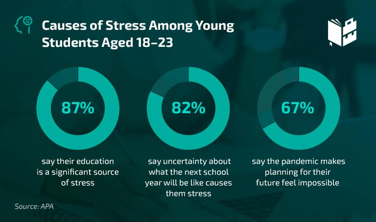 College Student Stress Statistics Causes of Stress Among Young Students Aged 18-23